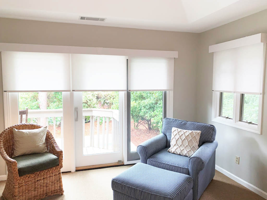 Roller Shades with Fabric Covered Fascia