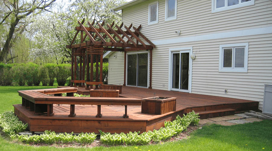 Roof to Deck finished deck