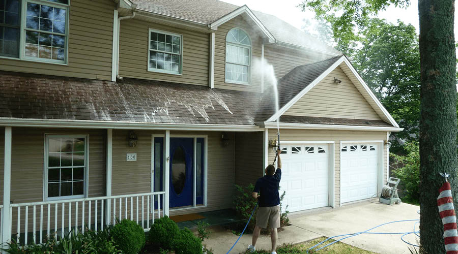 roof to deck house washing services
