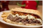 Rosati's menu includes Italian beef sandwiches; several Chicago area locations.