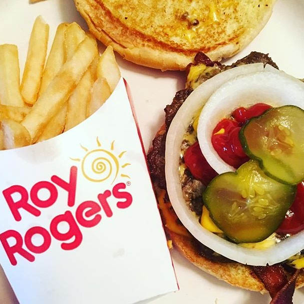 Roy Rogers Frederick, MD cheeseburger and french fries