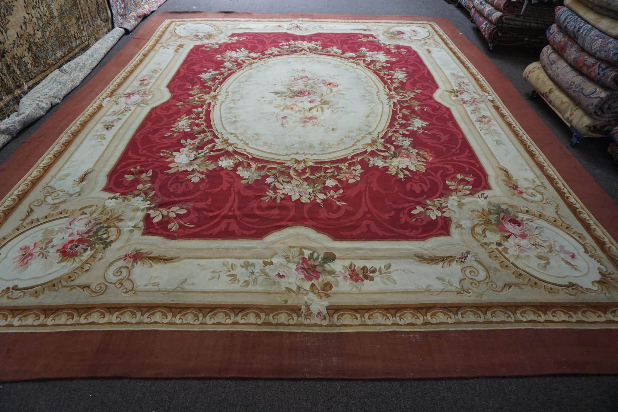 red oriental rug from Rug Looms in L.A.