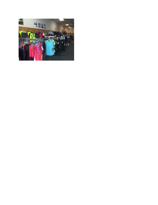 Clothing available at Runner's Haven in Randolph NJ