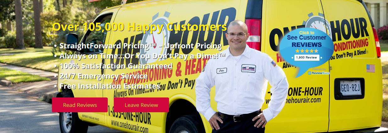 Scott's One Hour Air Conditioning and Heating BANNER