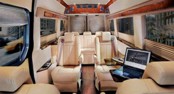 Travel in style with friends in a party bus
