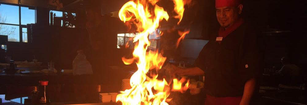 Shirasoni Japanese Restaurant hibachi grill Banner Ad