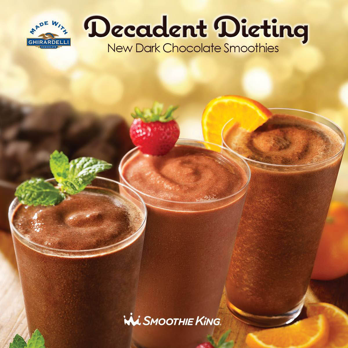 Smoothie king dark chocolate smoothies, Decadent Dieting
