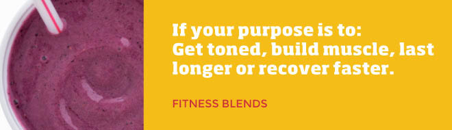 Smoothie King Fitness Blends - toning and muscle building