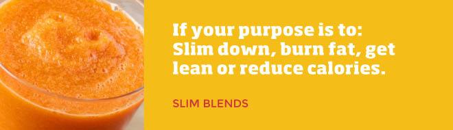 Smoothie King Slim Blends - slimming down, burning fat, less calories