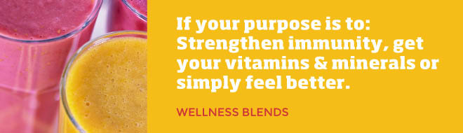 Smoothie King Wellness Blends - immunity building and vitamin-rich