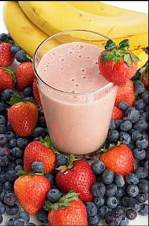 Fruit smoothie at Blend Smoothie and Salad Bar
