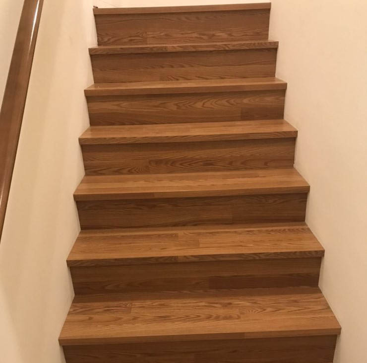 Hardwood floor stairs that can match the rest of your home - hardwood stairs installation by SPF Construction LLC flooring company - flooring companies in King County - King County flooring companies near me - install hardwood floors