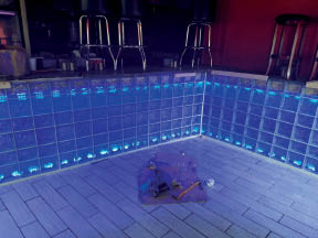 photo of glass block bar made by Security and Protective Services LLC in Ypsilanti, MI