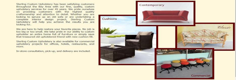 Sterling Custom Upholstery in Mountain View, CA banner