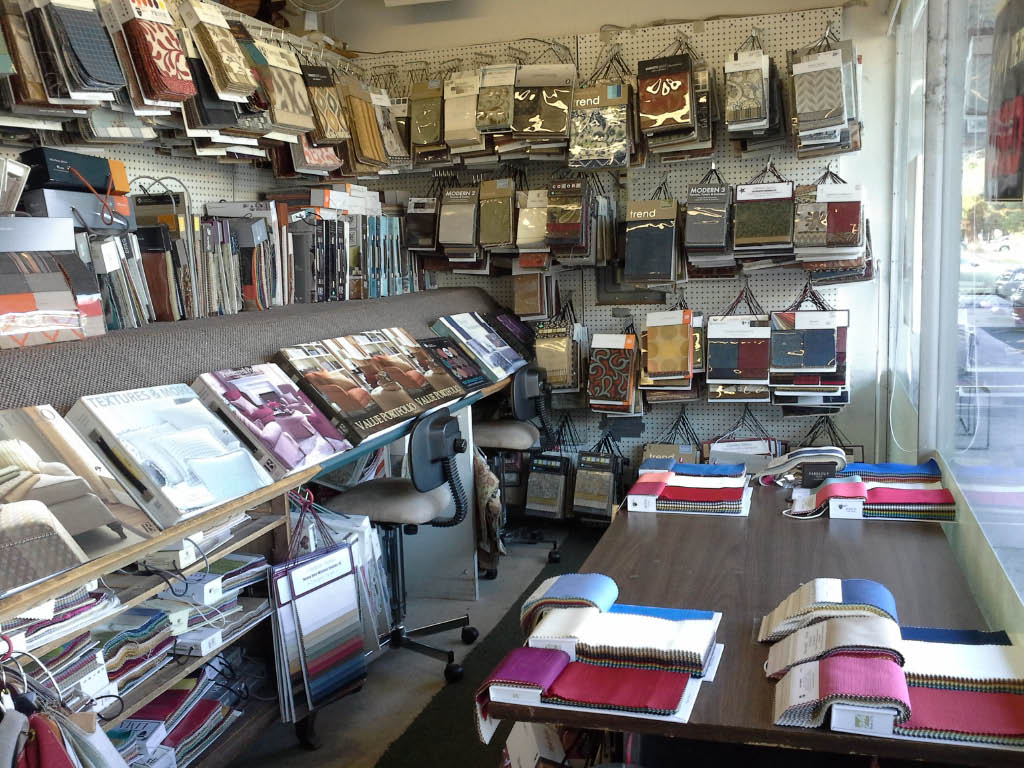 interior shop view of Sterling Custom Upholstery Co. in Mountain View, CA