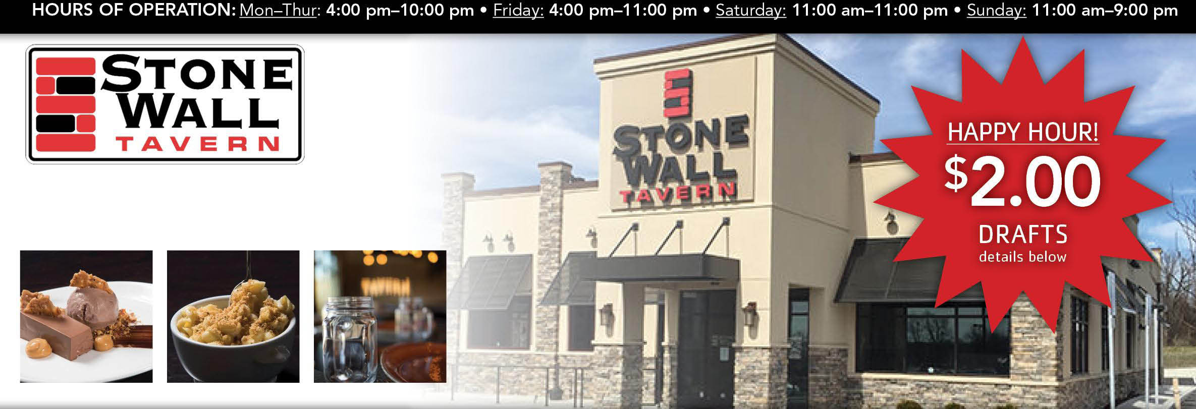 Stone Wall Tavern, Lunch, Dinner, American Cuisine, Restaurant, Food, Local