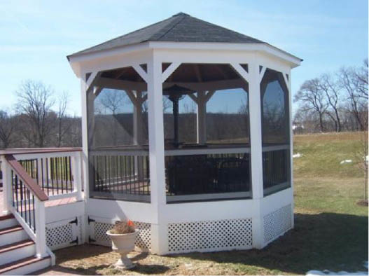 We offer screened gazebo construction