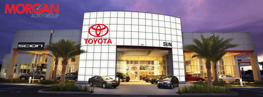 Suntoyota Store Front Photo, Holiday FL save on tires save on oil change tire coupon tire coupons need new tires