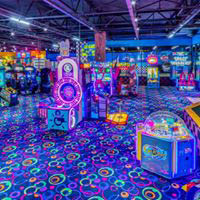 8 attractions, over 100 arcade games, 12 lanes of bowling, party rooms and restaurant.