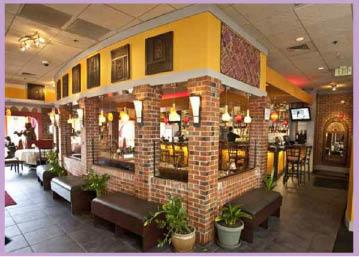 Interior of Saffron Grill in Seattle, Washington - Seattle Indian restaurants near me - Northgate Indian restaurants near me - Indian food near me - Indian food in Northgate - Indian food in Seattle - Indian takeout foor
