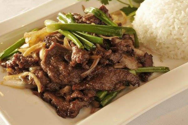 Saigon Asian Bistro beef.