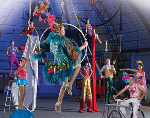 European style one-ring circus in Sarasota, FL