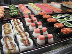 Sushi available at Sakura Grill & Supreme Buffet in East Hanover NJ