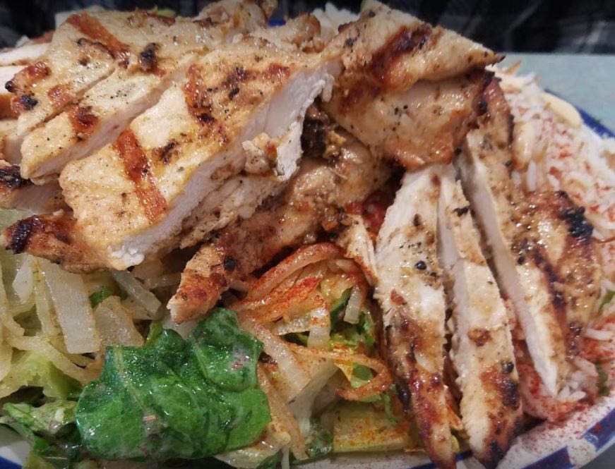 photo of chicken shawarma salad from Sam's Kabob House in Clinton Twp, MI