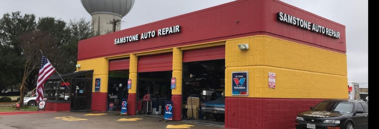 Samstone Auto Repair banner Addison, TX