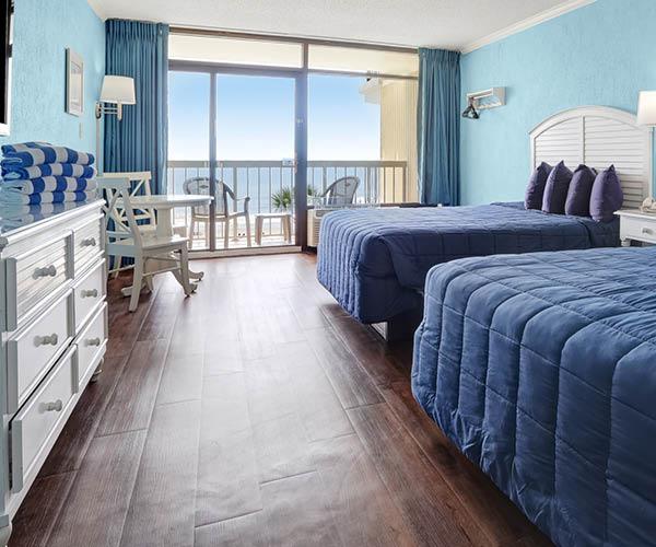 Sands resort interior oceanfront room