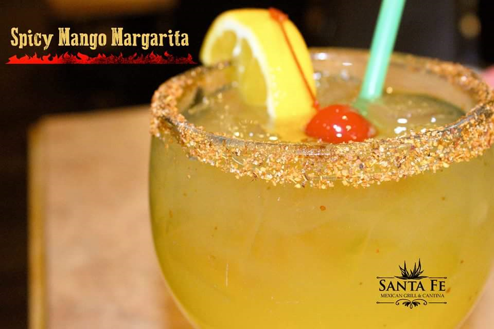 Santa Fe Mexican Grill serves the best margaritas in Renton, WA - Spicy Mango Margarita
