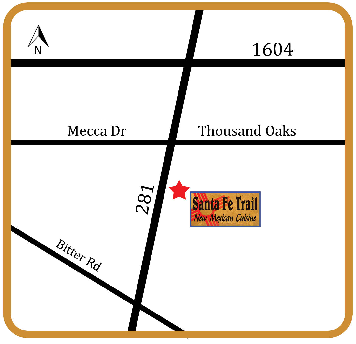 Santa Fe Trail New Mexican Cuisine Map