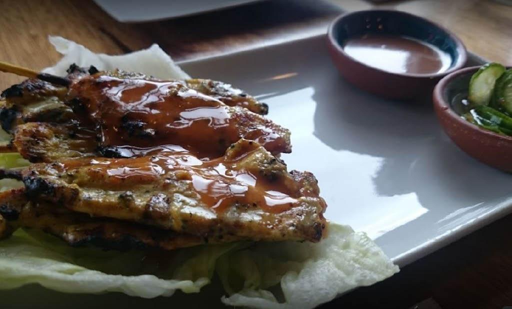 Meet skewers - food on a stick - Satay Bar Thai Cuisine in Seattle, WA - Thai food near me - save money on Thai food - Thai food coupons