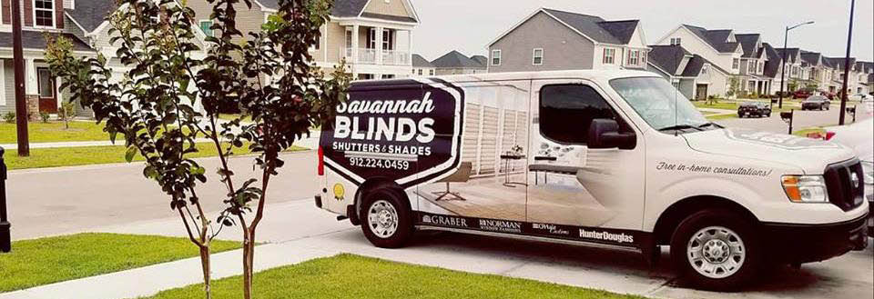 Let Savannah Blinds, Shutters & Shades come to your home with our mobile store banner