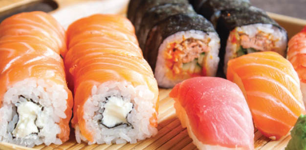 Enjoy half price sushi every Wednesday at Scorpion Lounge & Steakhouse in Sumner, WA - sushi near me - Sumner restaurants - dining in Sumner - dining coupons near me - restaurant coupons near me