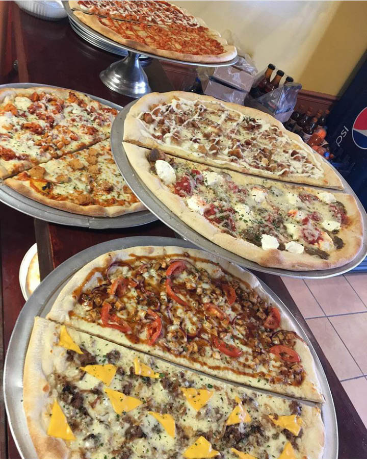 Enjoy a wide selection of specialty pizzas at Cinema Pizza in New Windsor