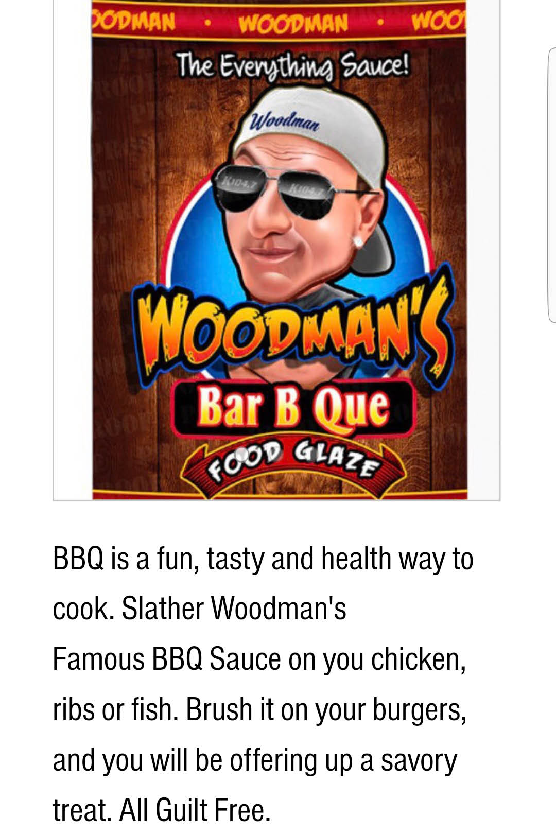 WOODMAN SAUCES  BBQ BAR B QUE