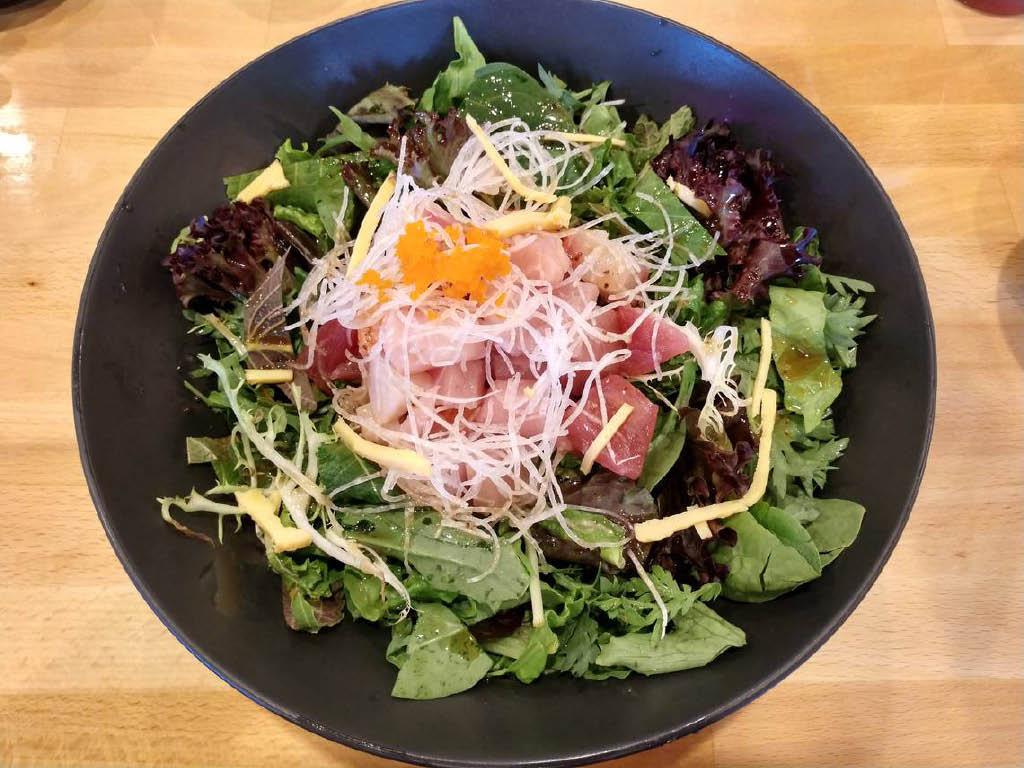 Jin Sushi Japanese Restaurant - Lakewood, WA - fresh, select seafood salads - salmon skin salad - sashimi salad - poki salad - taco salad - spicy tuna salad - Japanese restaurant coupons near me