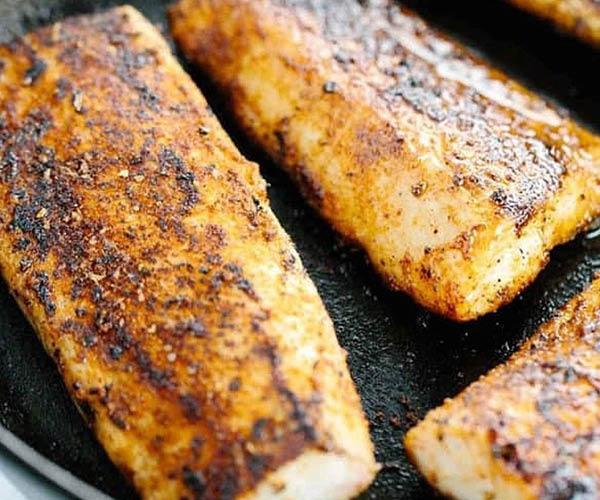 seared fish platter