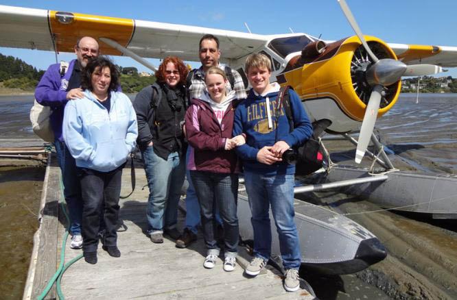 Seaplane Adventures - Family group photo near Larkspur, CA