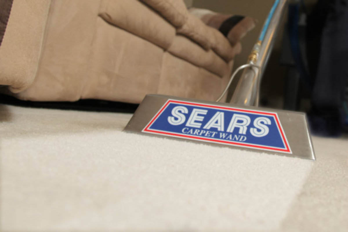 Sears Home Services carpet cleaning.