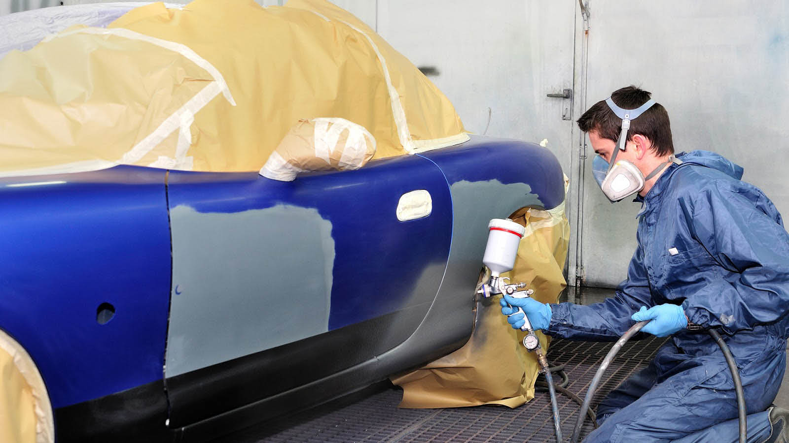 Auto body painting at Seattle Automotive - collision repair shop in Seattle, WA