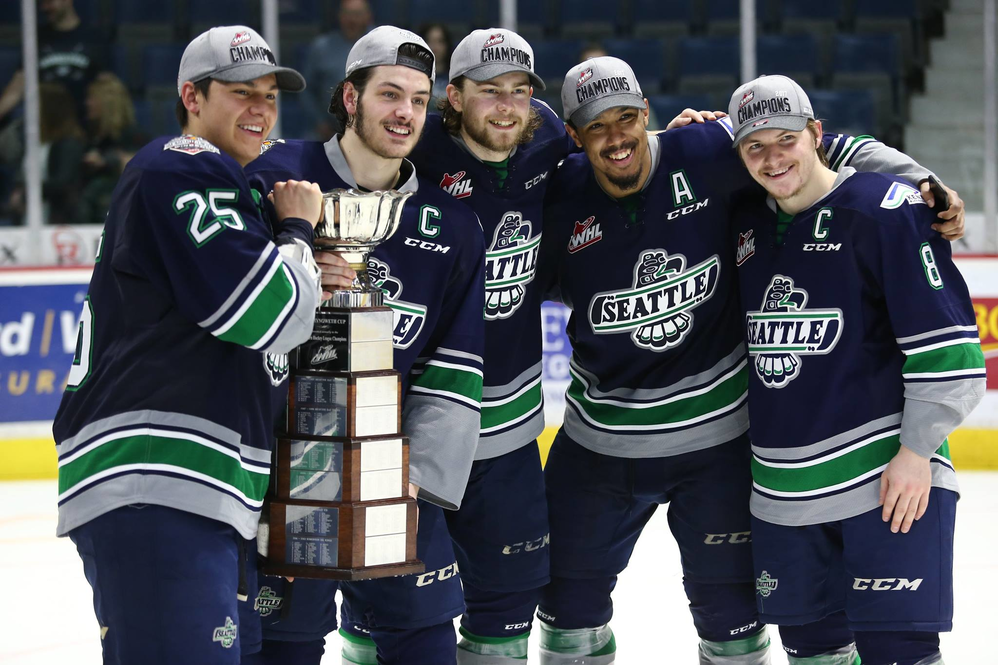 Seattle Thunderbirds hockey club at ShoWare Center in Kent, WA - 2017 Western Hockey League Champions