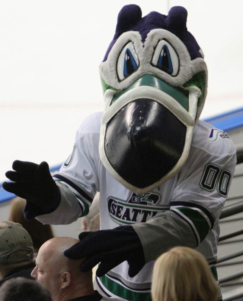 Cool Bird - Seattle Thunderbirds hockey mascot - Kent, Washington