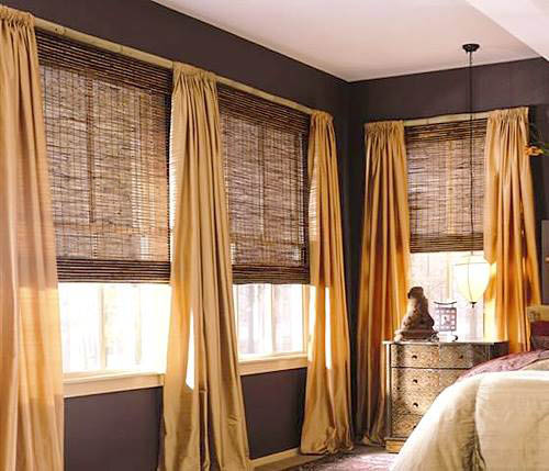 Seattle WA Budget Blinds - cordless top down/bottom up shades with custom drapes