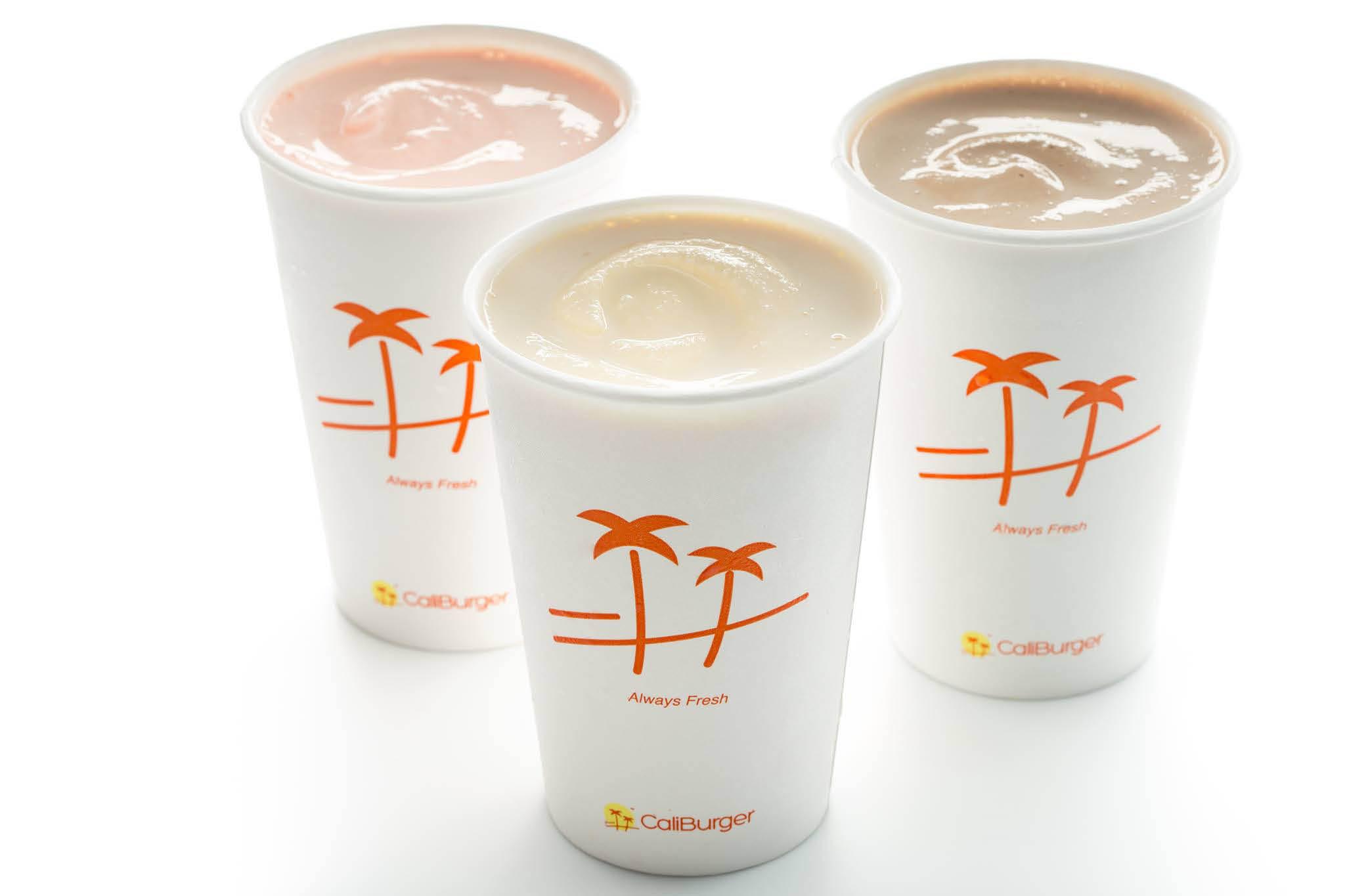 Caliburger Seattle - refreshing milkshakes are handspun & made with rich creamy ice cream & fresh milk