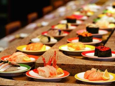 Delicious conveyor belt sushi from Yo! Zushi on Seattle's Capitol Hill