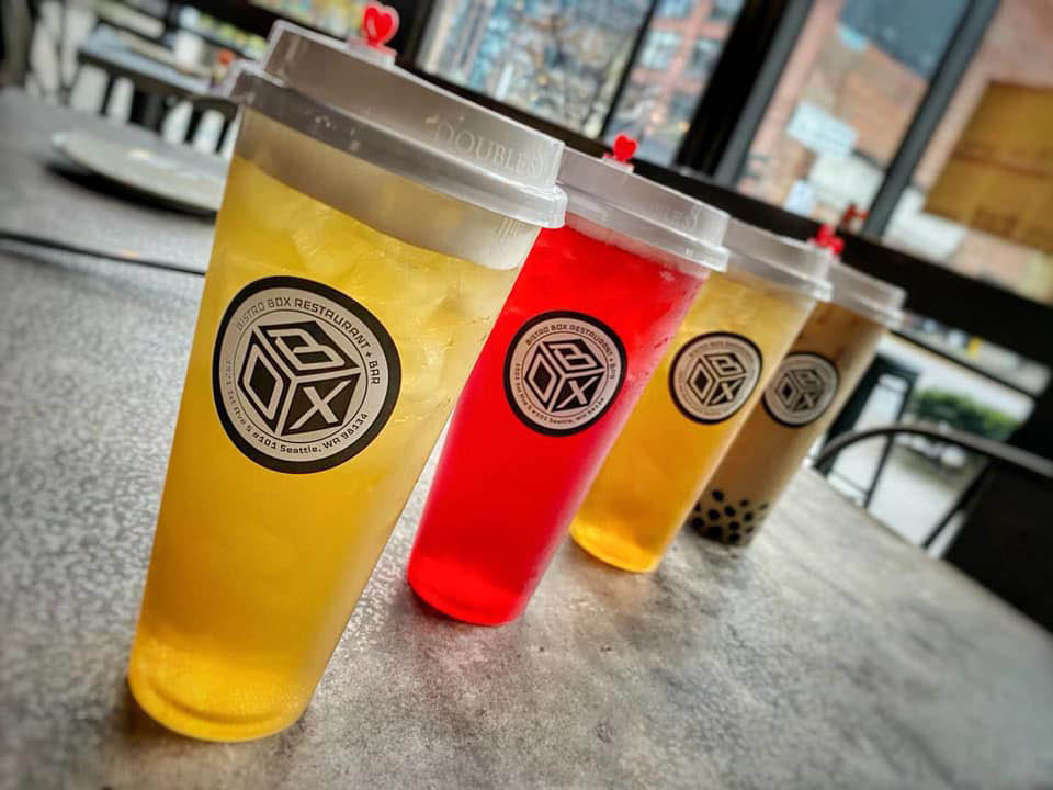 Bistro Box Restaurant & Bar in Seattle, Washington - large variety of cold teas to choose from - dining in SODO - dining in Seattle - Seattle dining coupons near me - Seattle restaurant coupons near me