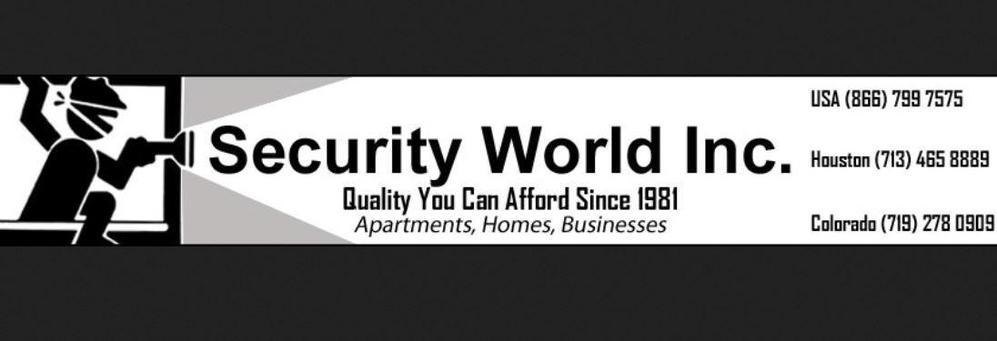 Security World Inc. for alarm system equipment and monitoring services banner
