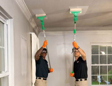 New ceiling and wall cleaning services